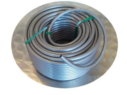 5mm I.D. Plastic Silver Grey Tubing For Mechanical Organ Building